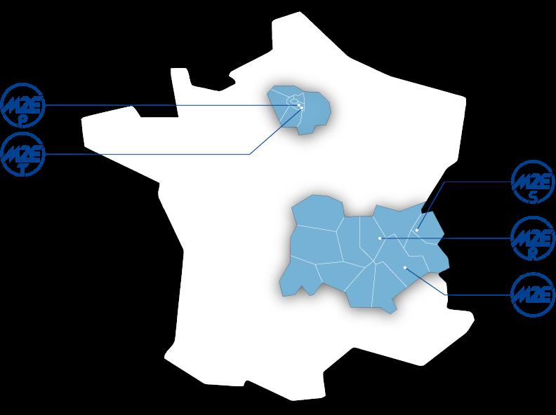 Carte des agences M2E